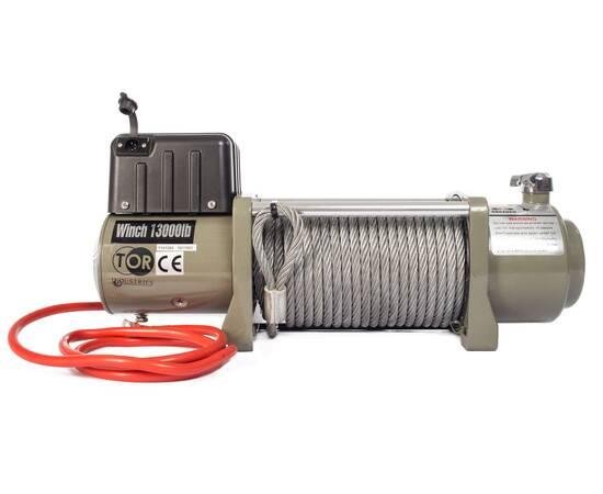 TOR 12 V SEC16800 Лебедка (7620 кг/28 м) автомобильная