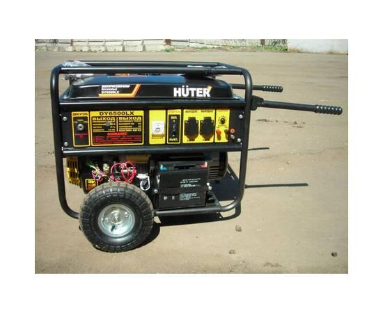 Huter DY6500LX Бензогенератор (Бензиновый генератор) с колесами и аккумулятором